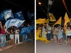 Militantes de Camilo e Waldez reúnem-se para acompanhar debate