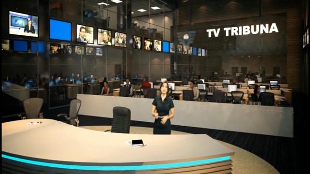 Redação de Jornalismo da Nova Sede da TV Tribuna (Foto: Divulgação)