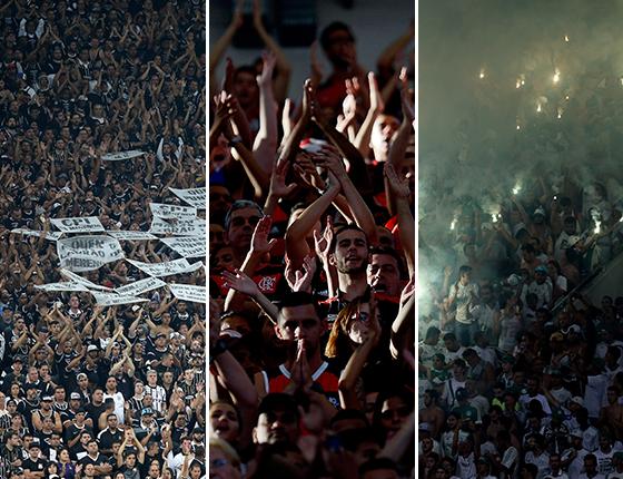 As torcidas de Corinthians, Flamengo e Palmeiras. Elas sustentam as novas arenas brasileiras (Foto: Getty Images)