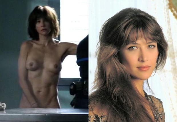 Sophie Marceau em cena de 'Jailbirds' e em '007 - O Mundo Não é o Bastante' (1999) (Foto: Reprodução)