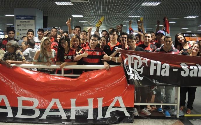 Torcida do Flamengo na Bahia (Foto: Cahê Mota)