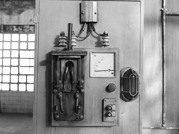 Detalhe da máquina elétrica (Foto: Carol Caminha/Gshow)