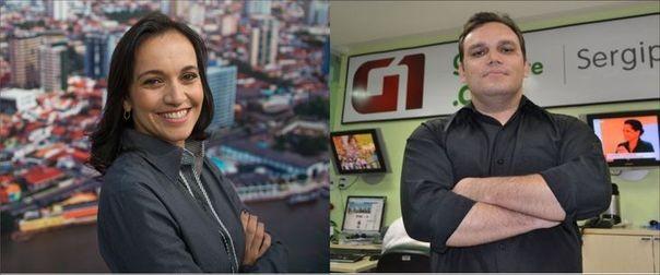 Sayonara Hygia e Fredson Navarro (Foto: TV Sergipe / Divulgação)