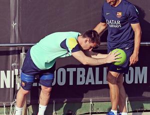 Messi treina na pré-temporada do Barcelona (Foto: Reprodução / Instagram)