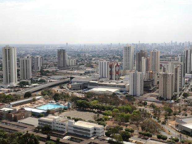 Vista aérea de bairro em Cuiabá, capital de Mato Grosso: estado liderou crescimento econômico do país entre 2010 e 2013, segundo IBGE (Foto: Lenine Martins/Sesp-MT)