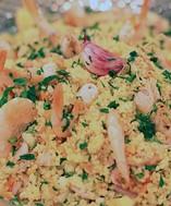 Cuscuz marroquino com camarões secos (Foto:  )