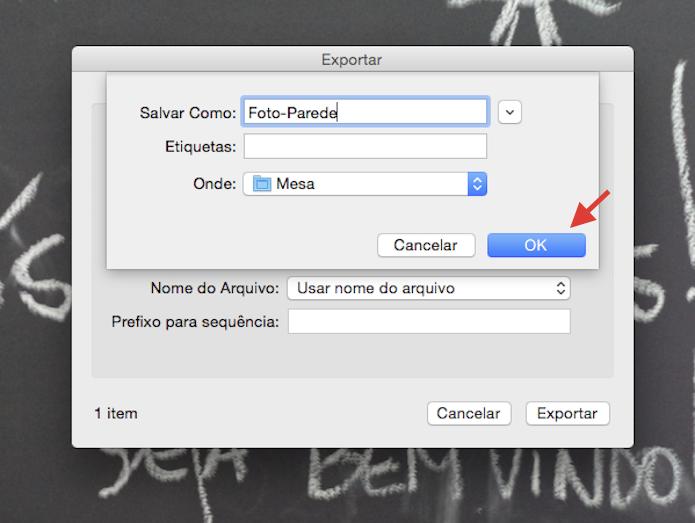 Salvando a imagem redimensionado pelo iPhoto no mac (Foto: Reprodução/Marvin Costa)