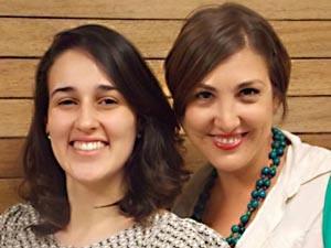 PLANO PILOTO: Bhárbara de Carvalho tem 21 anos e é estudante de jornalismo. Juliana Sangoi mora na Asa Sul e é estudante de psicologia.  (Foto: TV Globo/reprodução)