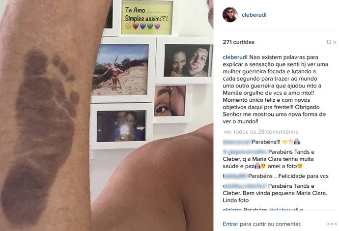Nasce a filha de Tandara em Uberlândia (Foto: Reprodução/Instagram)
