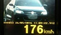 PRF flagra carro a 176 km/h durante operação  (Divulgação/PRF)