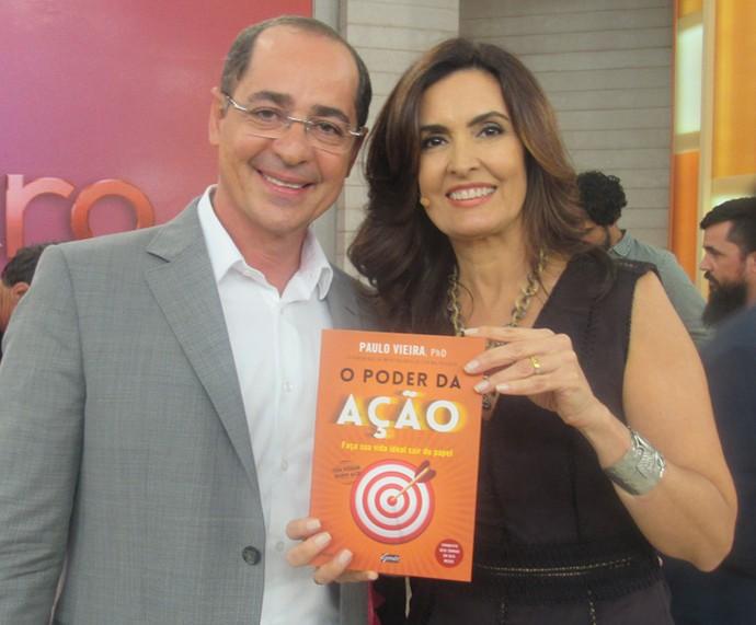 Fátima com os especialista Paulo Vieira  (Foto: Priscilla Massena/Gshow)