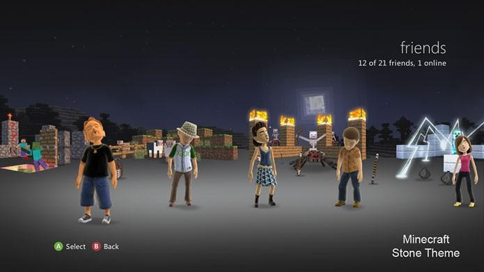O Tema de Pedra de Minecraft é um dos melhores do game (Foto: Divulgação)