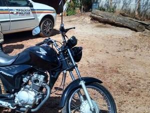 Moto utilizada no roubom em Pará de Minas foi apreendida (Foto  Polícia  Militar  d654c86a93