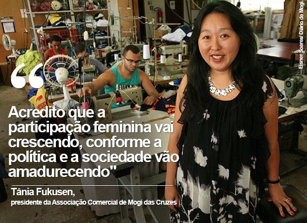 Tânia Fukusen, presidente da Associação Comercial de Mogi das Cruzes (Foto: Eisner Soares/ Diário de Mogi)