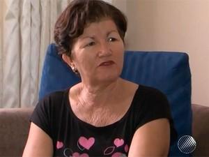 Mãe do baiano que vive em Nepal (Foto: Reprodução/TV Sudoeste)