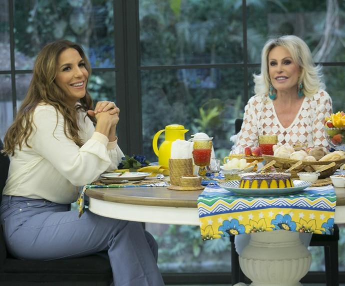 Ivete Sangalo toma café com Ana Maria Braga no 'Mais Você' (Foto: Raphael Dias/Gshow)