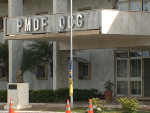 Comando Geral da Polícia Militar, em Brasília (Foto: TV Globo/Reprodução)