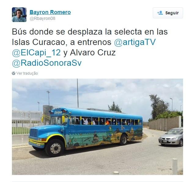 O ônibus de Curaçao para enfrentar El Salvador