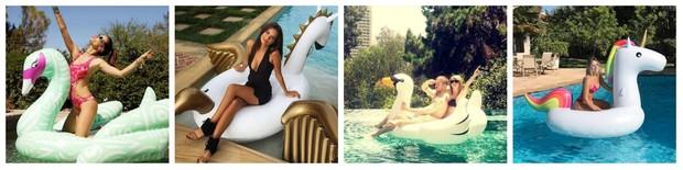 Alessandra Ambrósio, Taylor Swift, Kendal Jenner e Tayane Dantas (Foto: Reprodução/Instagram)