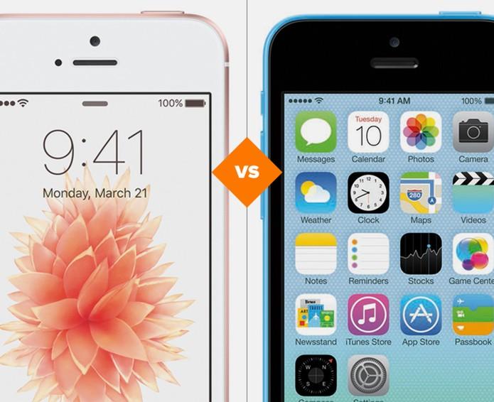 iPhone SE ou iPhone 5C: veja qual é o melhor celular barato da Apple (Foto: Arte/TechTudo)