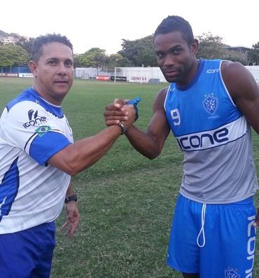 Emerson Silva confia no futebol do Balô alvianil (Foto: Richard Pinheiro/GloboEsporte.com)