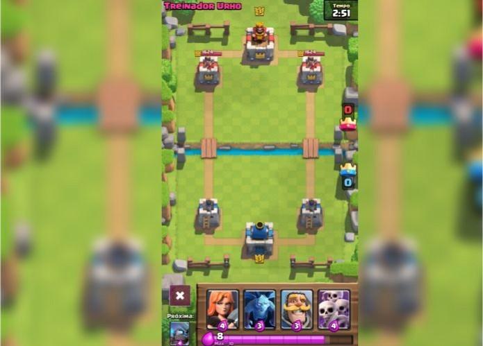 Clash Royale: analise suas cartas iniciais e tente montar uma estratégia rápida com elas (Foto: Reprodução/Paulo Vasconcellos)