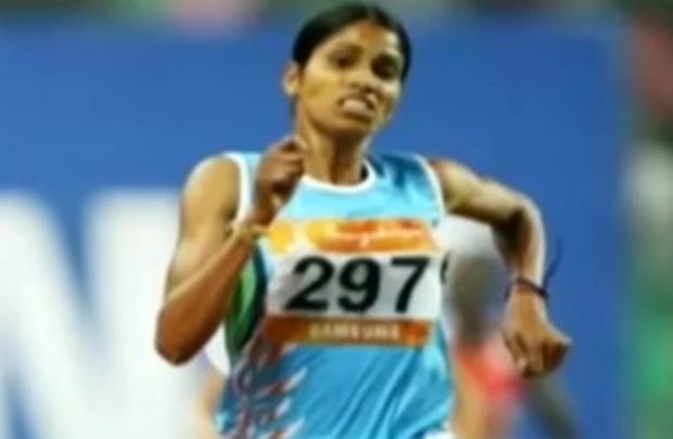 Sudha Singh participou dos 3.000 metros com obstáculos (Foto: Reprodução/YouTube)