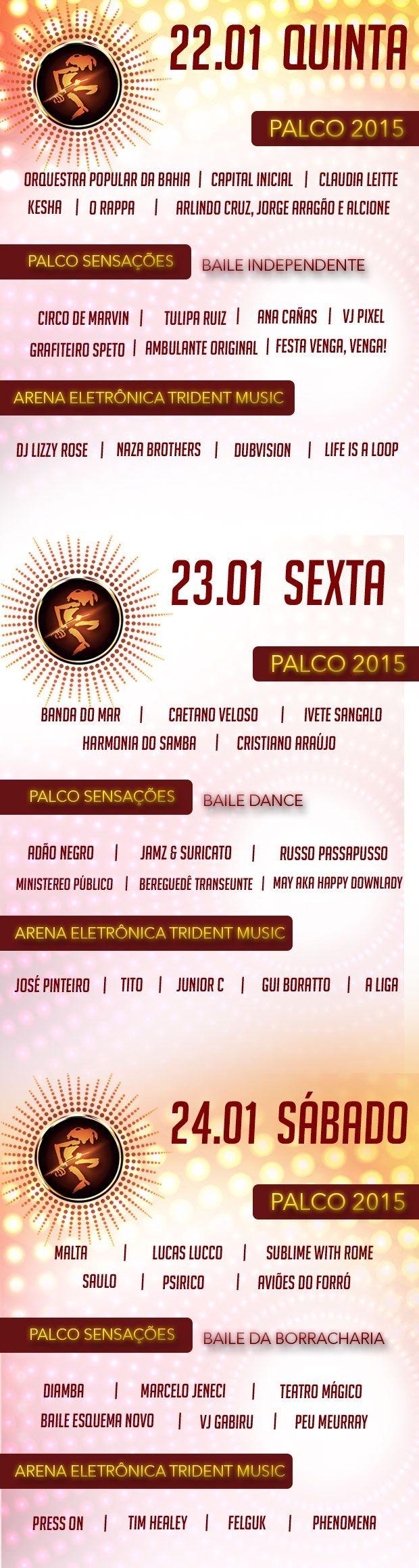 Grade de todos os palcos do FV 2015 (Foto: Divulgação)