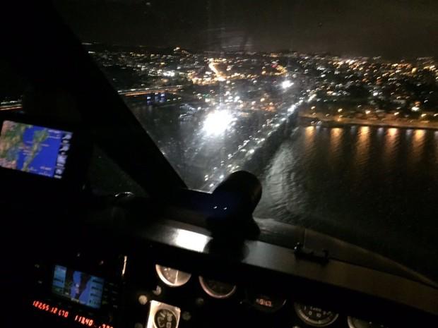 Operação na Ponte Hercílio Luz ocorreu na madrugada (Foto: Arcanjo/Divulgação)