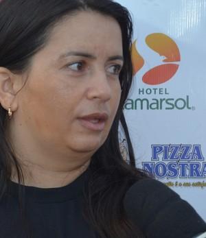 Gleide Costa, treinadora, Botafogo-PB, feminino  (Foto: Lucas Barros / GloboEsporte.com/pb)