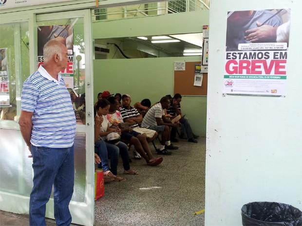 Unidade de Saúde Central é afetada pela greve dos servidores em Ribeirão Preto (Foto: Analídia Ferri/G1)