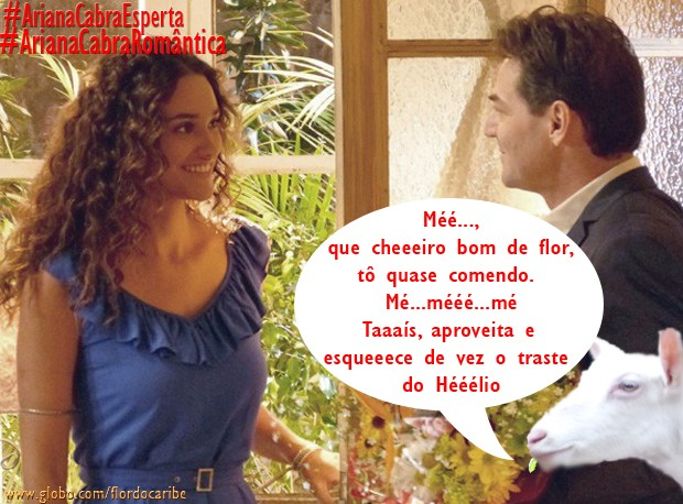 Ariana e Taís (Foto: Flor do Caribe/TV Globo)