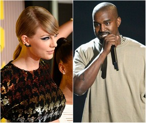 Taylor Swift e Kanye West (Foto: AFP)