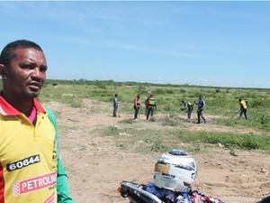 """""""Daqui ninguém sai"""", diz presidente do sindicato de mototaxistas em Petrolina-PE (Foto: Emerson Rocha/GloboEsporte.com)"""