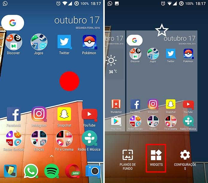 Google Keep pode ter atalho adicionado à tela inicial do Android (Foto: Reprodução/Elson de Souza)
