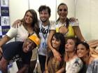 Ivete Sangalo chega ao Salvador Fest e é tietada por vips como Anitta