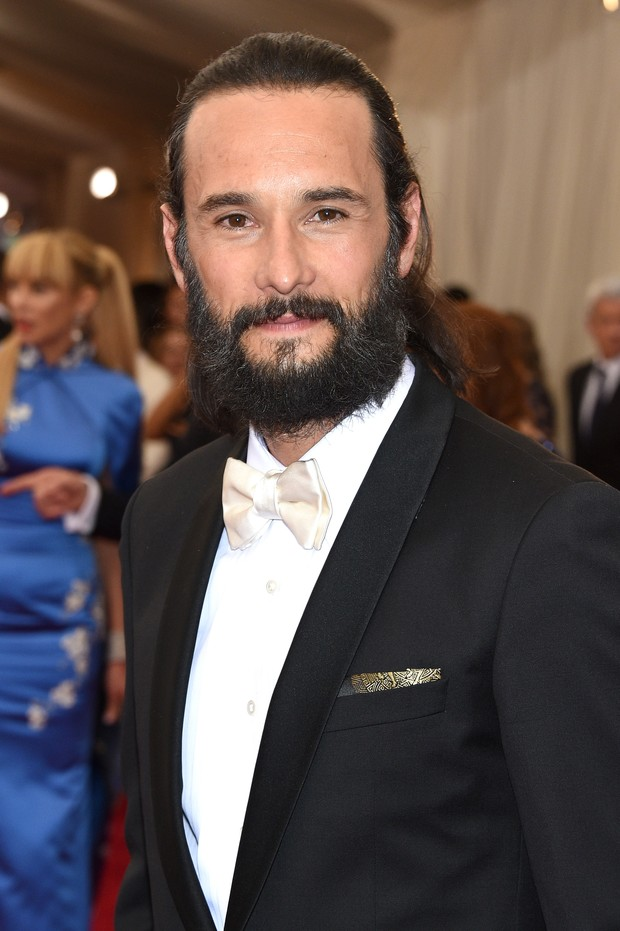 Rodrigo Santoro no baile de gala do MET em Nova York, nos Estados Unidos (Foto: Larry Busacca/ Getty Images/ AFP)