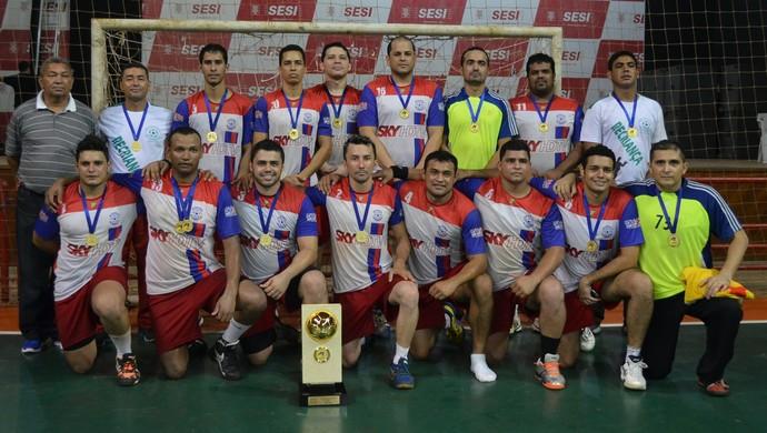 Recriança campeão da Taça Amazônica de Handebol 2014 (Foto: Duaine Rodrigues)