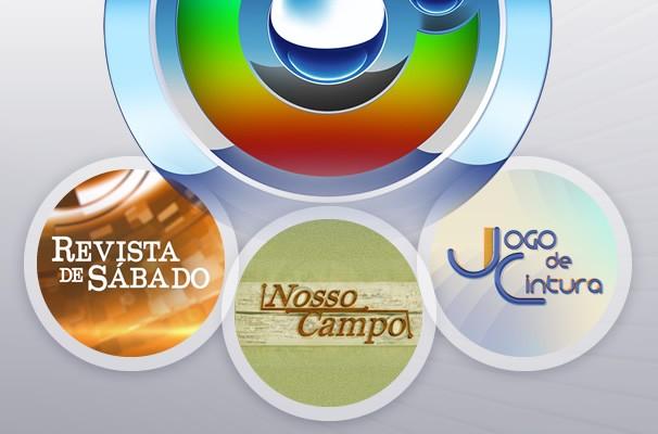 Programas de Entretenimento da TV TEM (Foto: Arte/TVTEM)