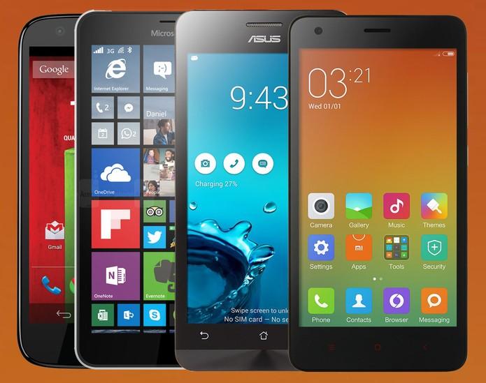 Moto G, Zenfone 5, Lumia 640 e RedMi 2: veja qual smart vale o investimento (Foto: Arte/TechTudo)
