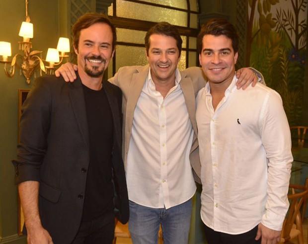 Paulo Vilhena, Marcelo Serrado e Thiago Martins (Foto: Fabio Cordeiro/Ed. Globo)