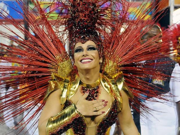 Viviane Araújo no Desfile das Campeãs (Foto: Alexandre Durão/G1)