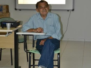 Jurandir Teixeira Miranda durante apresentação da monografia na UFT, em Miracema (Foto: Rodrigo Mamédio/Divulgação UFT)