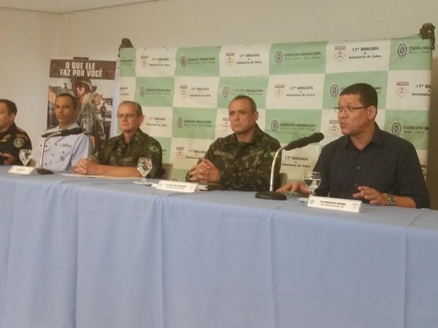 O resultado da operação foi apresentado durante coletiva de imprensa na tarde desta segunda-feira, 20 (Foto: Toni Francis/G1)