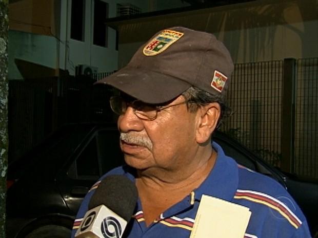Benedito perdeu filha e neta no acidente (Foto: Reprodução RBS TV)