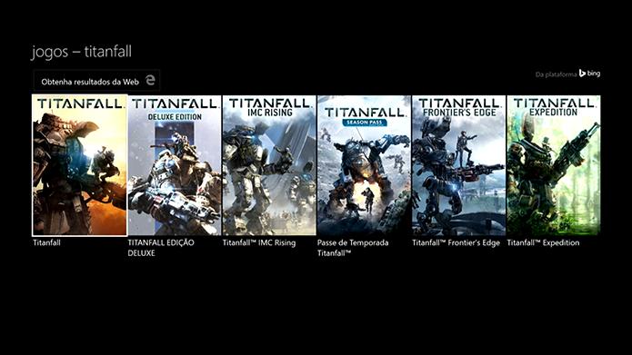Selecione o Titanfall na loja (Foto: Reprodução/Murilo Molina)