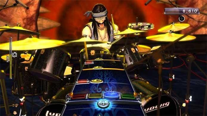 Bateria, guitarra ou microfone: escolha o seu em Rock Band 4 (Foto: Divulgação/Harmonix)