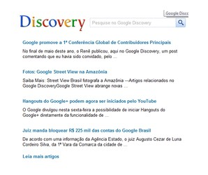 Google Discovery Chrome