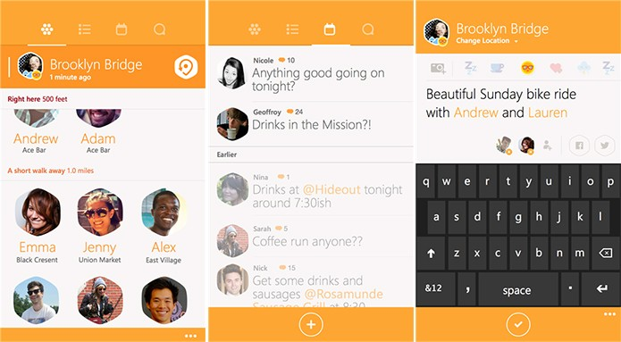 Swarm recebeu atualização com novos adesivos, suporte ao Work Flow e outras novidades (Foto: Divulgação/Windows Phone Store)
