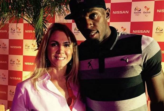 Hortência, festa, Usain Bolt, Rio de Janeiro (Foto: Reprodução/Instagram)